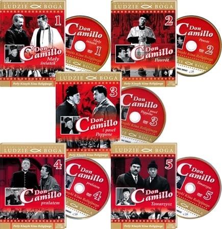 Don Camillo 1-5. Film DVD - komplet