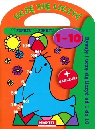 Uczę się liczyć 1-10. Książeczka z naklejkami dla dzieci