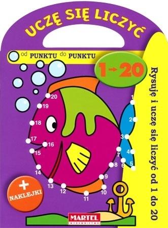 Uczę się liczyć 1-20. Książeczka z naklejkami dla dzieci