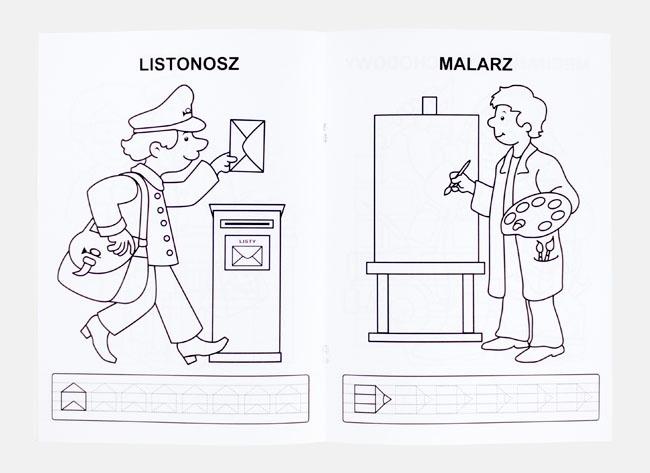 Listonosz i malarz - Kolorowanka zawody