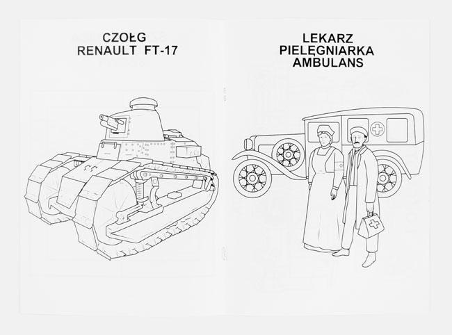Wojsko i służba zdrowia  - Kolorowanka 100 lat Niepodległości