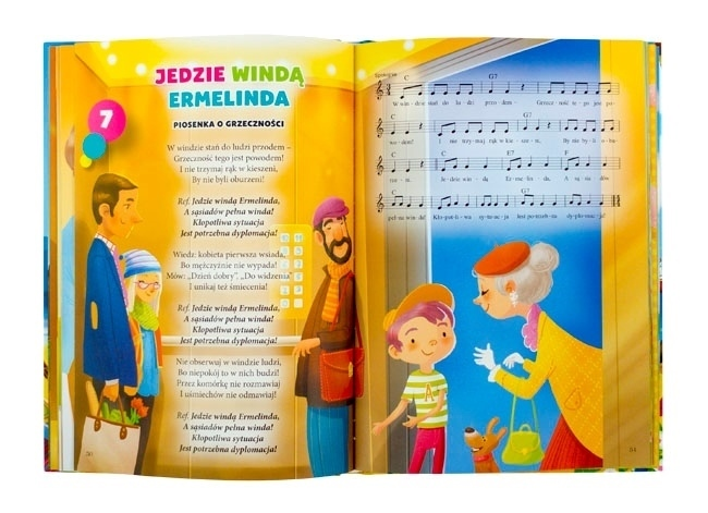 Jedzie windą Emelinda - Dobre wychowanie z piosenką - z płytą CD gratis