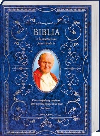 Pismo Święte Starego i Nowego Testamentu ze św. Janem Pawłem II (niebieskie)