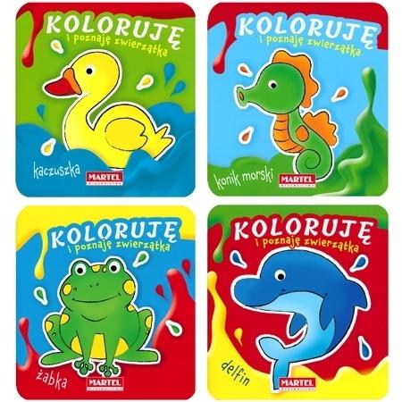 Koloruję i poznaję zwierzątka - komplet : Dla dzieci