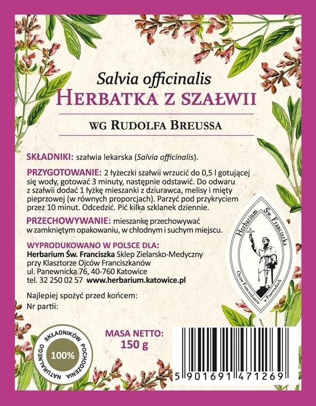 Herbatka z szałwii wg Rudolfa Breussa - etykieta