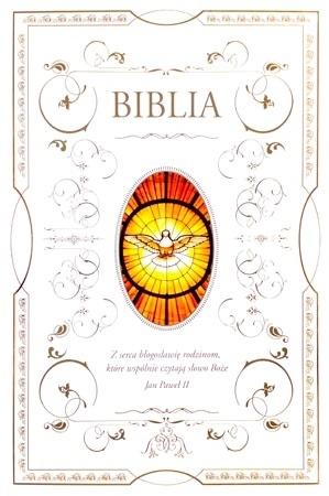 Pismo Święte Starego i Nowego Testamentu - obwoluta z wizerunkiem Ducha Świętego