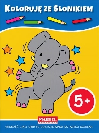 Koloruję 5+ z słonikiem