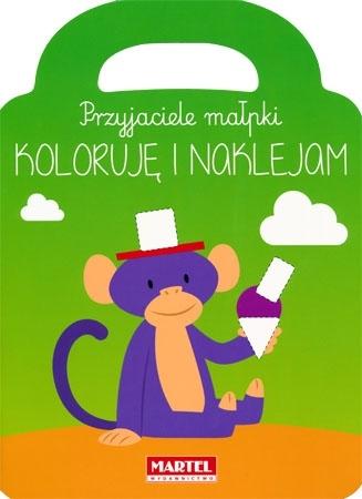 Przyjaciele małpki. Koloruje i naklejam