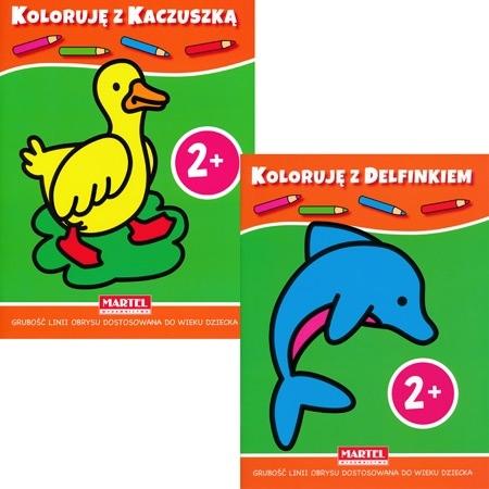 Koloruję 2+ z kaczuszką i delfinkiem