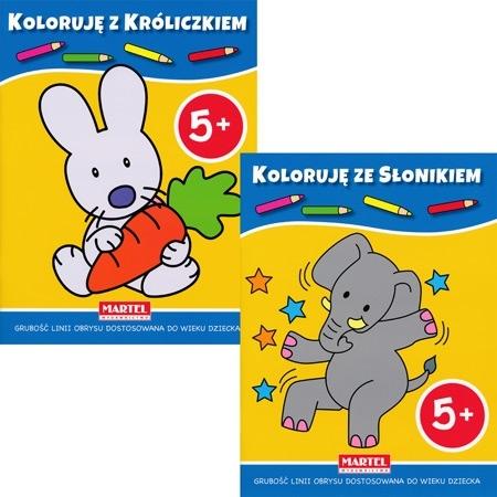 Koloruję 5+ z króliczkiem i słonikiem