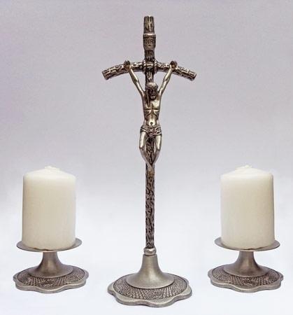 Papieski komplet kolędowy - w kolorze srebrnym