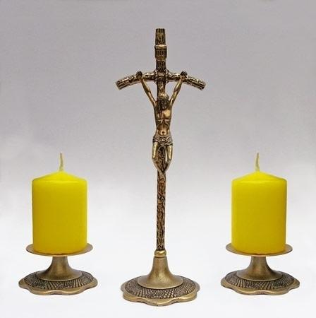 Papieski komplet kolędowy - w kolorze złotym