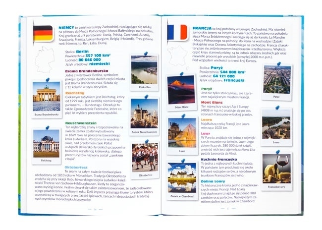 Atlas Europy dla dzieci - zawartość książki