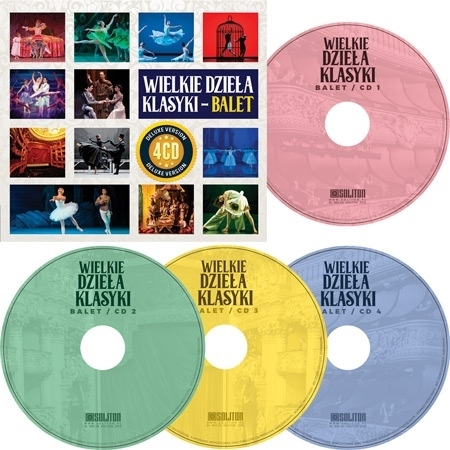 Wielkie dzieła klasyki. Balet. Kolekcja 4 płyt CD
