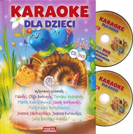 Karaoke dla dzieci  z płytą CD i DVD