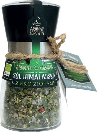 Sól himalajska z eko ziołami (w młynku) 90g