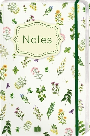 """Notes """"Zioła""""  z motywami roślinymi"""