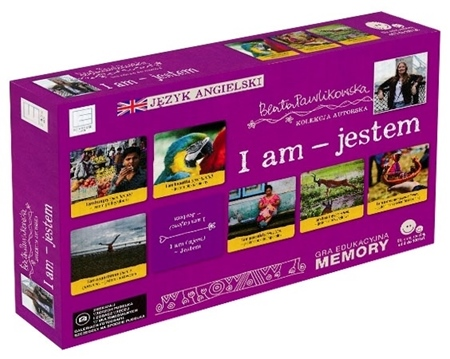 I am - jestem. Gra edukacyjna memory. Autorska kolekcja gier słynnej podróżniczki Beaty Pawlikowskiej
