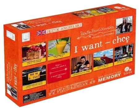 I want - chcę. Gra edukacyjna memory. Autorska kolekcja gier słynnej podróżniczki Beaty Pawlikowskiej