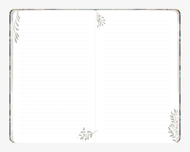 """Notatnik """"Herbatka ziołowa"""" z motywami roślinymi"""