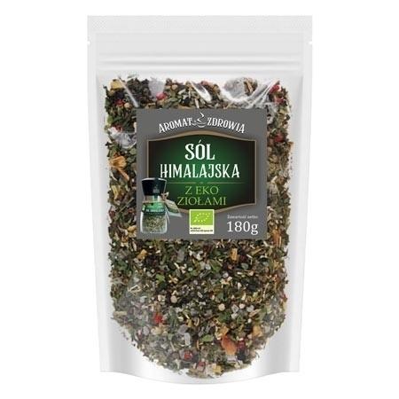 Sól himalajska z eko ziołami, 180 g - uzupełnienie do młynka