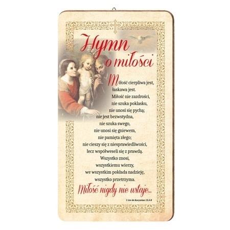 Hymn o miłości : Obrazek na drewnie : Dewocjonalia