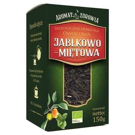 Ekologiczna herbatka jabłkowo-miętowa, 150 g