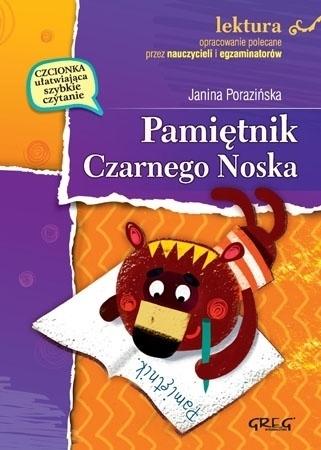 Pamiętnik Czarnego Noska (z opracowaniem i streszczeniem) - Janina Porazińska : Lektury szkolne