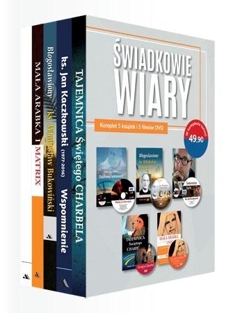 Świadkowie wiary. Komplet 5 książeczek i 5 filmów DVD