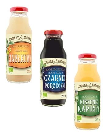 Zestaw soków ekologicznych