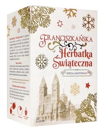 Franciszkańska herbatka świąteczna w pudełku 20 saszetek po 5 g