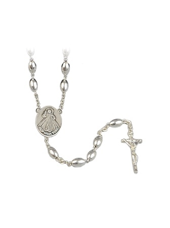 Różaniec srebrny z grawerunkiem: Pamiątka od Mamy