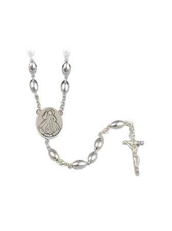 Różaniec srebrny z grawerunkiem: Pamiątka od Ojca Chrzestnego