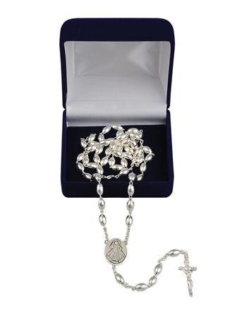 Różaniec srebrny w etui