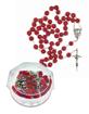 Różaniec drewniany pachnący olejkiem różanym w etui : Dewocjonalia