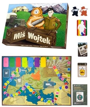 Miś Wojtek. Edukacyjna gra planszowa 2-5 graczy w wieku od 6 lat