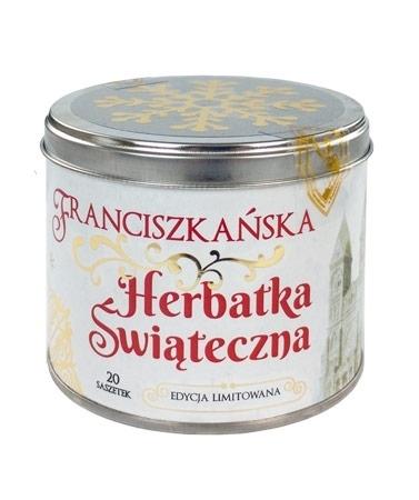 Franciszkańska herbatka świąteczna w puszce 20 saszetek po 5 g