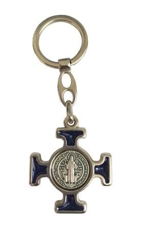 Krzyż z medalikiem św. Benedykta - brelok do kluczy : Dewocjonalia