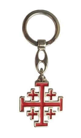 Krzyż Jerozolimski - brelok do kluczy : Dewocjonalia