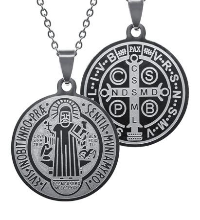 Cudowny medalion św. Benedykta z łańcuszkiem : Dewocjonalia