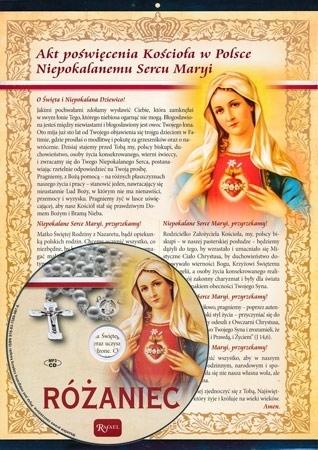 Akt poświęcenia Kościoła w Polsce Niepokalanemu Sercu Maryi. Obrazek z płytą CD