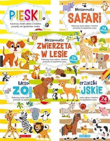 Kolorowanki z naklejkami. Zestaw 5 książeczek : Dla dzieci