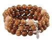 Bransoletka - różaniec z drewna palmowego : Dewocjonalia