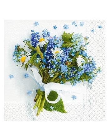 Serwetki ozdobne - Niebieski bukiecik