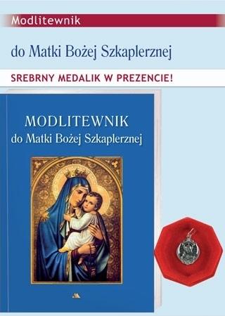 Modlitewnik do Matki Bożej Szkaplerznej ze srebrnym medalikiem w prezencie : Dewocjonalia
