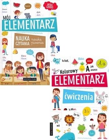 Pakiet Mój elementarz. Nauka czytania + Kolorowy elementarz. Ćwiczenia : Dla dzieci