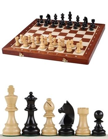 Szachy drewniane turniejowe German