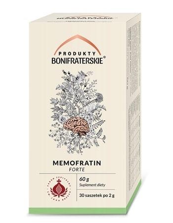 Memofratin Forte. Suplement diety, 60 g (30 saszetek po 2 g) : Preparaty ziołowe