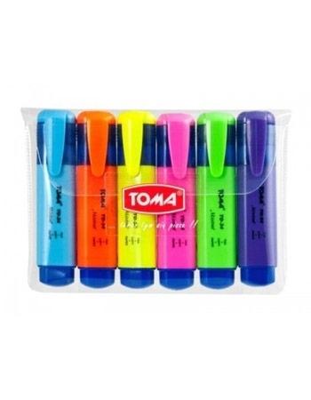 Zakreślacz Toma Mistral. 6 kolorów