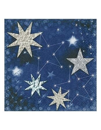Serwetki ozdobne – Gwiazdki na niebieskim tle
